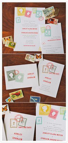 @Love 365 travel themed wedding invites!