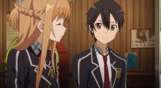 Asuna & Kirito (Kazuto) - real world (Sword Art Online)