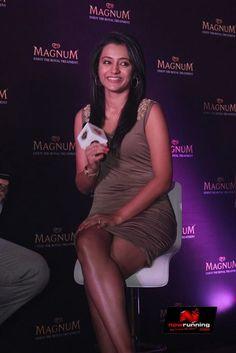 Actress Trisha At Magnum Ice Cream Launch