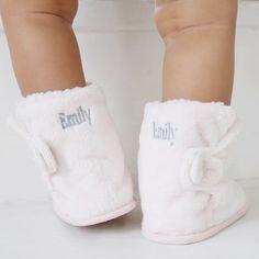 Pink Fleece Slipper Booties   My 1st Years