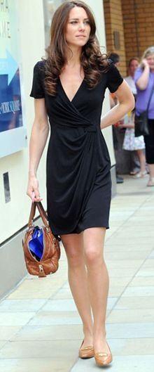 Kate Middleton Beauty Icon | Big Fashion Show black wrap dress