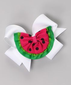Another great find on White Watermelon Clip Set by Picture Perfect Hair Bows Making Hair Bows, Diy Hair Bows, Diy Bow, Bow Hair Clips, Hair Barrettes, Ribbon Art, Ribbon Crafts, Ribbon Bows, Cute Watermelon