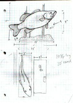Large mouth bass carving. https://www.facebook.com/Bill.Sculptures.tronconneuse.Quebec
