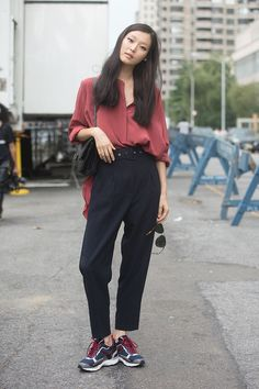 Street style: Kim Sung Hee shot by Melodie Jeng at NYFW Spring 2015
