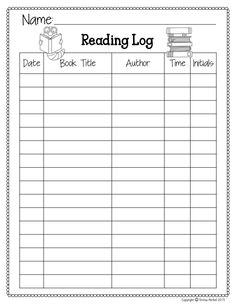 FREE reading logs!! Two versions available.