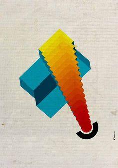 Abstract Geometric Wall Art ▲ Ideal for decorating your home or office. | #wallart #abstractart #modernprint #geometricart #homedecor An original art work by #PrintsProject