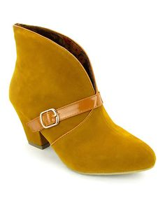Soo cute with dresses or shoes for skinny jeans! Mustard Henderson Bootie is perfect! #zulilyfinds