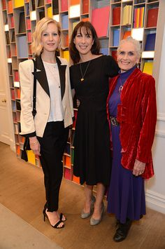 Savannah Miller, Samantha Cameron & Daphne Selfe at the Strong Women exhibition launch