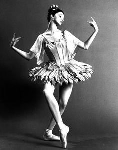 Suzanne Farrell in George Balanchine's Japanese-themed ballet, Bugaku.