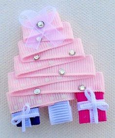 Look what I found on #zulily! Pink Christmas Tree Hair Clip #zulilyfinds