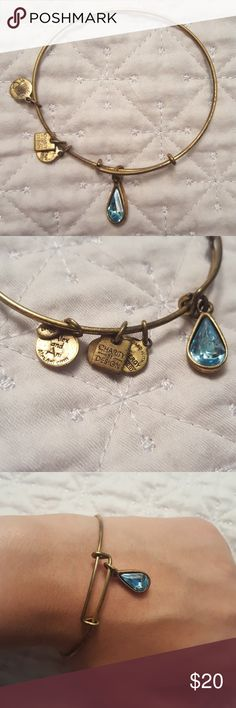 ALEX AND ANI MARCH BIRTHSTONE BRACELET Given as present but wrong month. Barely worn great condition. Will offer further discount if you bundle more than one Alex and Ani bracelet Alex & Ani Jewelry Bracelets