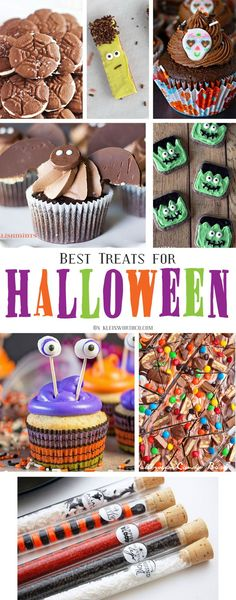 If you love Halloween treats then these Best Halloween Treats will make you smile. Cupcakes, cookies & party treat ideas are all here for your Halloween. via @KleinworthCo
