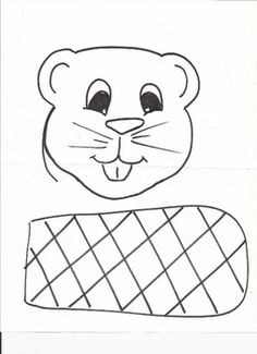 Beaver face and tail. Beaver Tails, River Otter, Alphabet Crafts, Canada Day, Letter B, Body Products, Wild Life, Creative Kids, Preschool Crafts