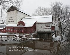 A photo of the Bucks County Playhouse in New Hope, Pa