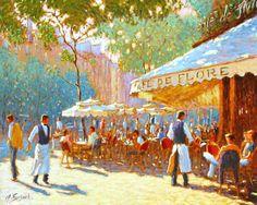 """""""Le café de Flore"""" by Claude Fossoux"""