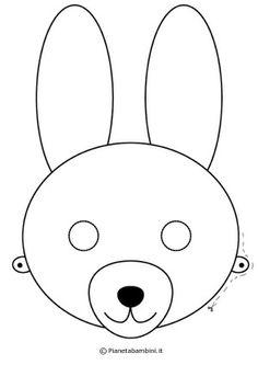 Maschera da coniglio da colorare e ritagliare