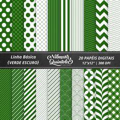 Basic Papers Kit – Dark Green – Nilmara Quintela Paper Designer