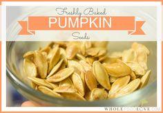 Freshly Baked Pumpkin Seeds Snack