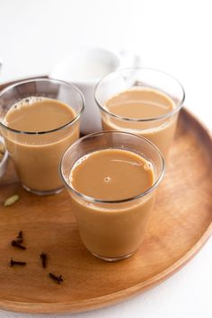 Homemade Chai Syrup made with freshly ground ROASTED Ginger, Cardamom, Black Pepper, Cloves, Star Anise and Cane Sugar. Topped off with creamy Almond Milk for the perfect Chai Tea Latte. READ THE NOTES...