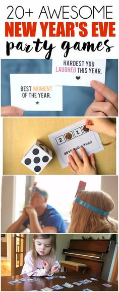 20 of the Best New Year's Eve Games – Play Party Plan 20 of the best New Years Eve party games including games with music to funny party games that will keep everyone laughing all night long! New Year's Eve Games For Family, New Year's Eve Games For Adults, Family New Years Eve, New Years Eve Games, New Year's Games, Christmas Games For Adults, New Years Eve Day, New Years Activities, Activities For Teens