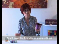 Pebeo - Fantasy Moon: How to Decorate a Terra Cotta Pots with Fantasy Moon Paint and Ceramic Paint