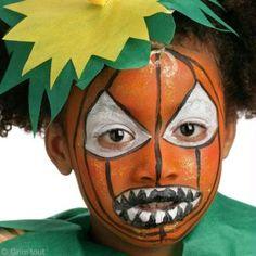 Maquillage d'Halloween : Citrouille démoniaque
