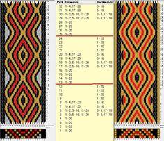 20 tarjetas, 3 colores, repite cada 12 movimientos // sed_925 diseñado en GTT༺❁