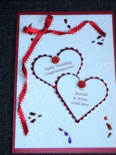 Ruby Wedding Card