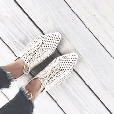 Anthropologie Perforated Flats