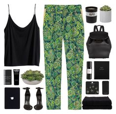 A fashion look from February 2014 featuring rayon tank, high waisted tapered trousers and neoprene shoes. Browse and shop related looks. Bella Freud, Smythson, Tapered Trousers, Outdoor Wear, Malene Birger, The One, Topshop, Fashion Looks, Pajama Pants