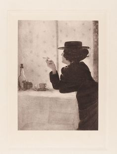 Robert Demachy, L. Angerer, Wilhelm Knapp   Frau mit Zigarette   Museum für Kunst und Gewerbe Hamburg   1899