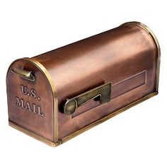 Grandin Road - Copper Mailbox - x x Post sold separately. Hardware not included.