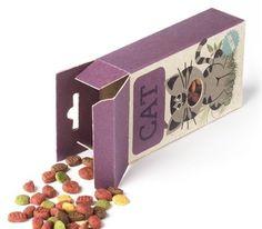 cat food packaging graphisme