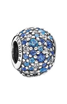 Women's PANDORA 'Mosaic' Pave Bead Charm - Mixed Blue Crystal