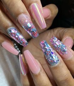 136 Likes, 2 Comments – Kiea Taylor: Master Nail Tech ( on Inst … - Nail Art Designs Perfect Nails, Gorgeous Nails, Love Nails, Pretty Nails, My Nails, Glam Nails, Bling Nails, Beauty Nails, Acrylic Nail Designs