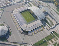 Estadio Friuli (maqueta final), propiedad del Udinese Calcio y modernizado acorde a la epoca. Tiene una capacidad para 30.700 personas y esta abierto desde 1976