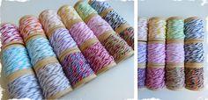 Divine Twine Sampler Pack - 18 colors on Wooden Spools! at VeryJane.com