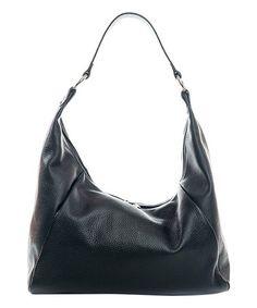 Look at this #zulilyfind! Black Pebbled Leather Hobo #zulilyfinds