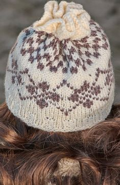I also knitted a warm hat in this pattern and squares.  Design: Målfrid Gausel