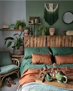 Bohemian Style Ideas For Bedroom Decor Design Bohemian Bedroom Decor Bedroom Bohemian bohemianbedroom Decor Design Ideas Style Bohemian Bedrooms, Bohemian Interior, Mt Design, Design Ideas, Green Bedroom Decor, Bedroom Ideas, Bedroom Designs, Blue Bedroom, Apartment Decoration