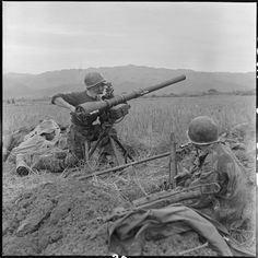 Manning the freshly dropped 75 mm recoiless cannon. Indochina, pin by Paolo Marzioli