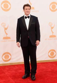 Nathan Fillion | Fashion At The 2013 Emmy Awards