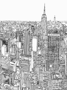 Patrick Vale: from sketchbook to grand scale (Urban Sketchers) Amazing Drawings, Amazing Art, Art Drawings, Urban Sketchers, Anime Comics, Arquitectura Wallpaper, City Drawing, City Sketch, Black And White Sketches