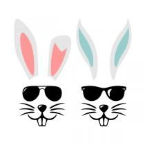 Cool Bunny SVG Cuttable Files