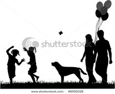 """Shutterstock.com family silhouettes for a picture that says """"You are loved so much."""" Or the lyrics from a song I sing to Sydney """"I love you. You love me. We're a happy family. With a great big hug and a kiss from me to you, won't you say you love me too?"""""""