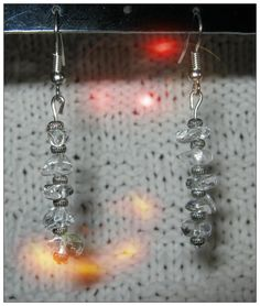 Beautiful Handmade Silver Hook Earrings with Rock Crystal by IreneDesign2011 in my Etsy shop What do you think about these earrings? Please let me know, thanks :-D Enjoy a great day Irene