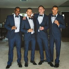 Navy blue and bowties