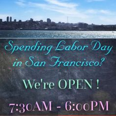 Happy #LaborDay! If you're in #SF, come on by! #sanfrancisco #labordayweekend #Caltrain #Samtrans #sfgiants #Attpark #barista #antistarbucks #PumpkinSpiceLatte #journey