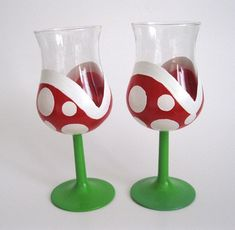 Mario Wine Glasses