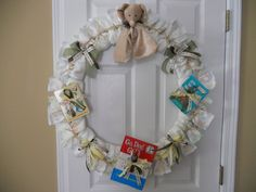 Diaper Wreath for a baby shower